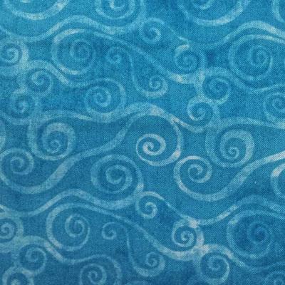 Swirly Scroll - Med Blue