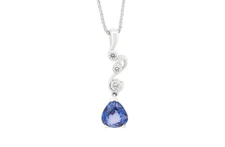 Swist: Blue Sapphire and Diamond Pendant