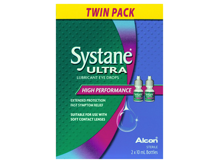 Systane Ultra High Performance Lubricant Eye Drops Twin Pack 2 x 10mL