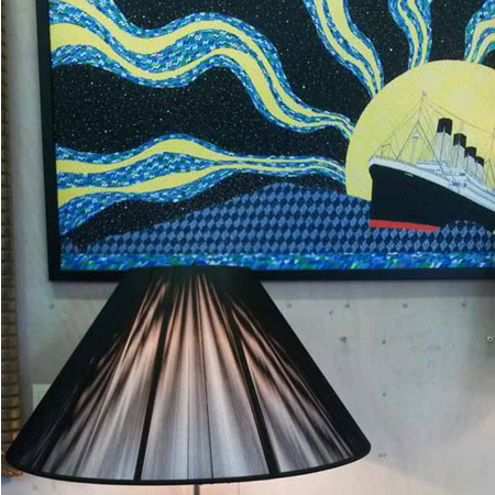 Table Lamp Paris Crystal with Black String Shade