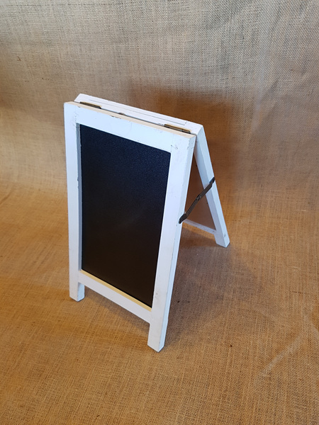 Table Sandwhich Board White Frame - 38x22cm