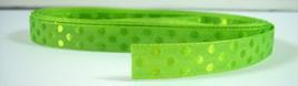 Taffeta Self-Dot Ribbon x 5 Metres: Apple Green