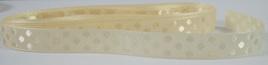Taffeta Self-Dot Ribbon x 5 Metres: Cream