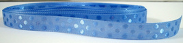 Taffeta Self-Dot Ribbon x 5 Metres: French Blue