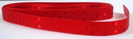 Taffeta Self-Dot Ribbon x 5 Metres: Hot Red