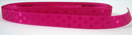 Taffeta Self-Dot Ribbon x 5 Metres: Magenta
