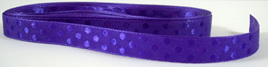 Taffeta Self-Dot Ribbon x 5 Metres: Regal Purple