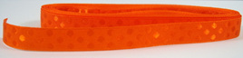 Taffeta Self-Dot Ribbon x 5 Metres: Tangerine