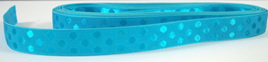 Taffeta Self-Dot Ribbon x 5 Metres: Turquoise