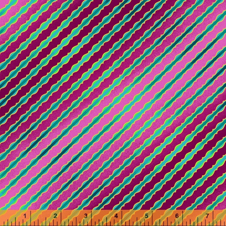 Talisman Stripe Magenta with Metallic 52683M-5