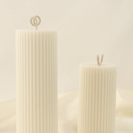 Tall Pillar Candle - Rose Colour