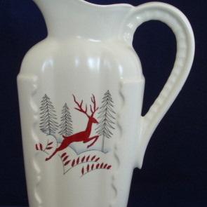 Tall squared jug in Stockholm pattern