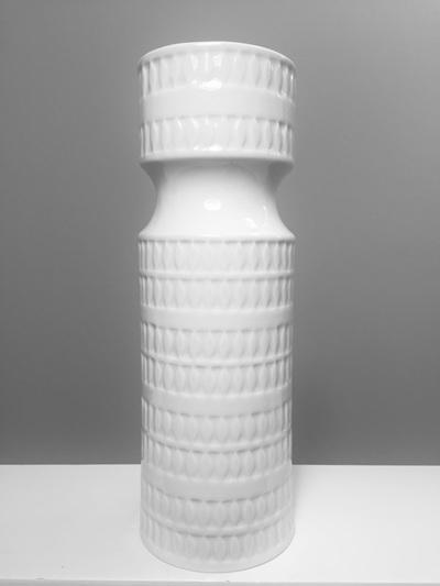 Tall Vintage White Porcelain Vase by Hutschenreuter