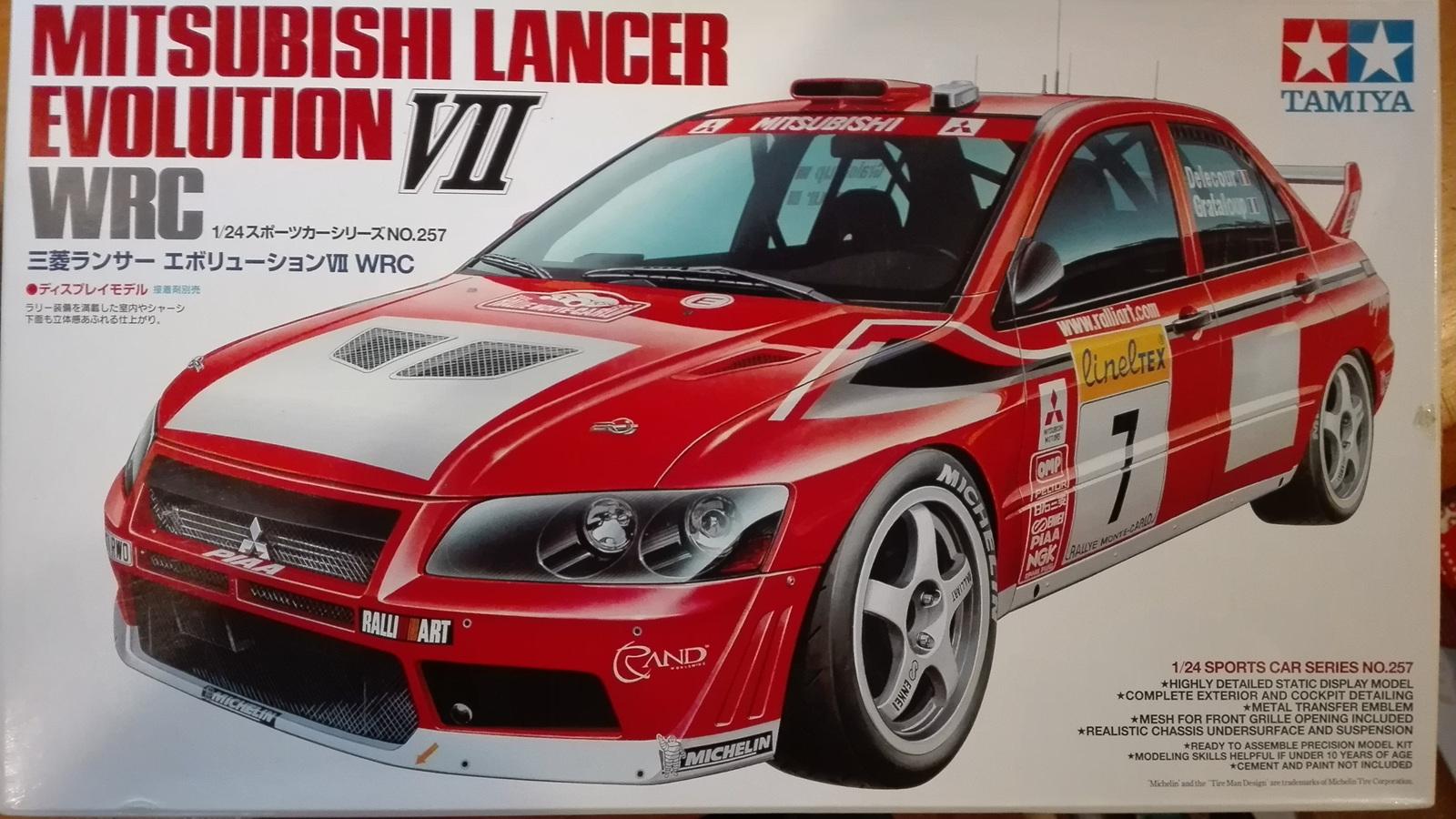 Tamiya 1/24 Mitsubishi Lancer Evo VII WRC - Rick's Model Kits