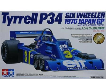 Tamiya 1/20 Tyrrell P34 1976 Japan GP w/PE Parts (TAM20058)