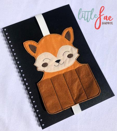 Tan & Brown Fox Book Buddy