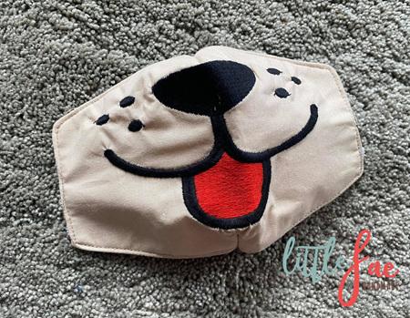 Tan Dog Face Mask 2