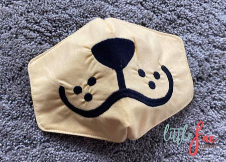 Tan Dog Face Mask