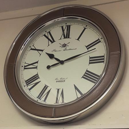 Tan Leather Clock - $220