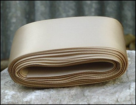 Tan Wedding Car Ribbon