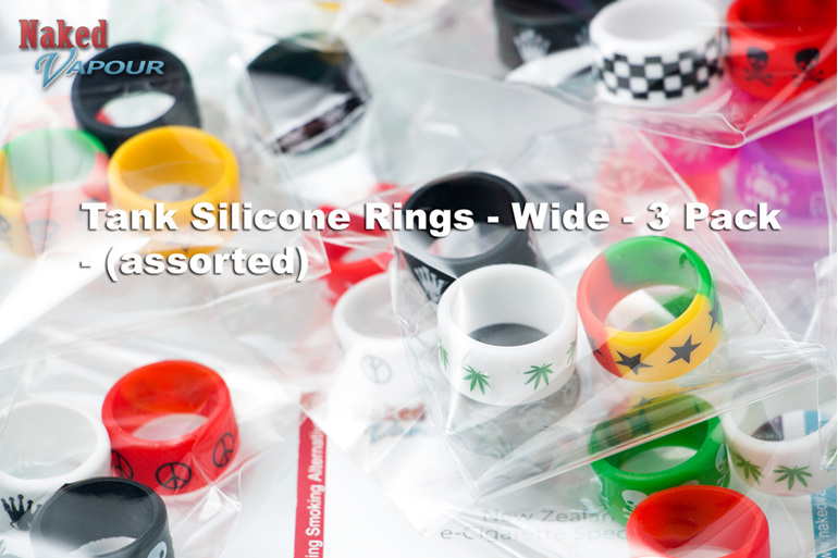 Tank Silicone Rings - Wide - 3 Pack (assorted)