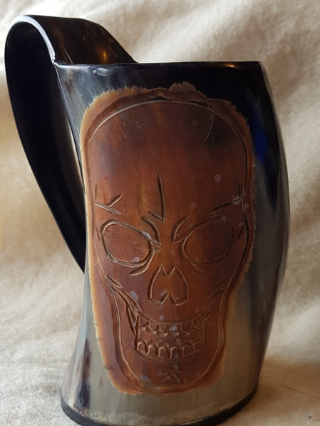 Tankard Type 3 - Horn Tankard with Skull