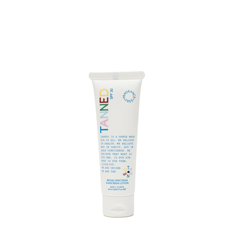 TANNED SPF30 Broad Spectrum Sunscreen Lotion 25mL