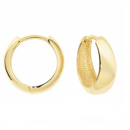 Tapered Gold Huggie Earrings