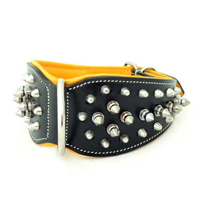 Rogue Royalty Cobra Nape Spiked Leather Dog Collar