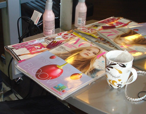 Targeted advertising and sampling in hair salons