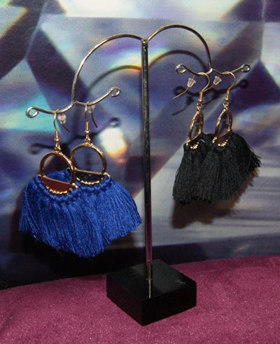 Tasman Earrings Blue Tassle