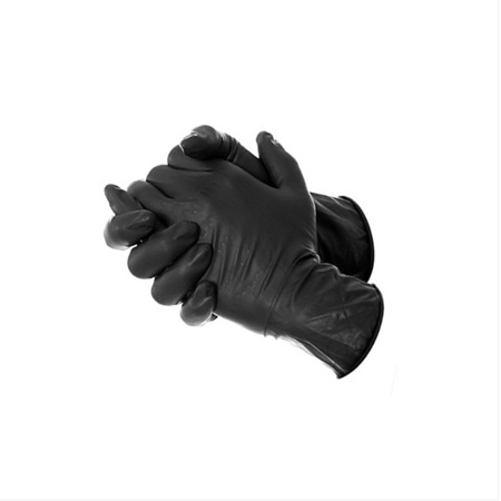 Tattoo Disposable Black Gloves 100pcs