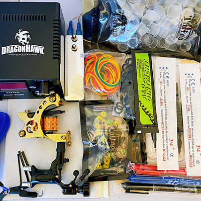 Tattoo Kit 1 Coil + 1 Rotary Machine Kit