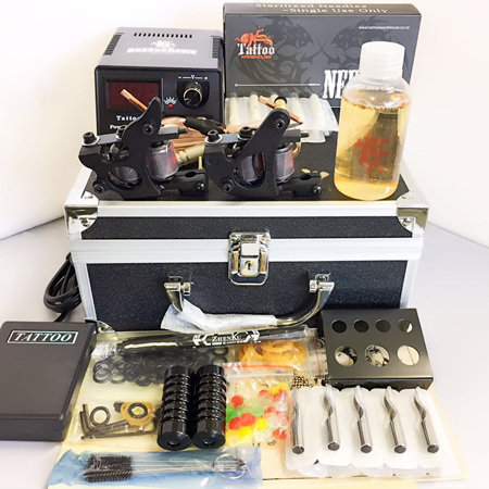 Tattoo kit 2 guns with extra M107 (no case)