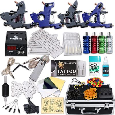 Tattoo kit 4 guns with extra M202