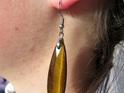 Tawny brown Tiger's Eye long earrings