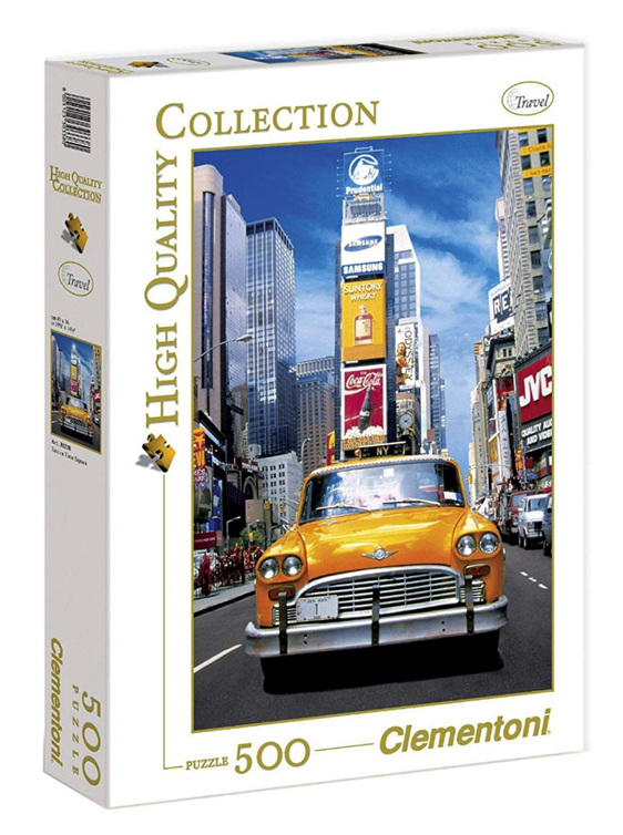 Taxi in Time Clementoni 500 piece jigsaw puzzle buy at www.puzzlesnz.co.nz