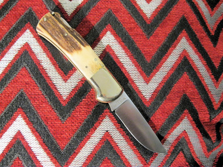 Taylor cutlery seki japan surgical steel stag (NG954)