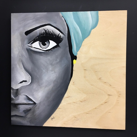 Taylor' - painting on wood