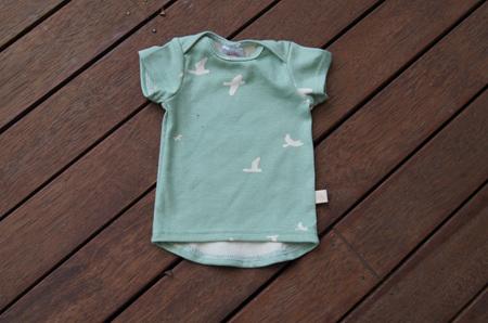 'Taylor' short sleeve Tee, 'Flight Mint' GOTS Organic Cotton, 0-3 months