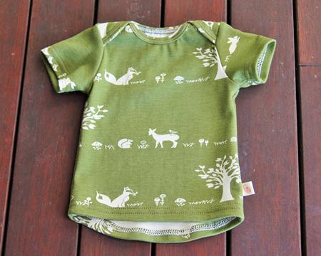 'Taylor' Short Sleeve Tee, 'Forest Friends' GOTS Organic Cotton Knit, 3-6m
