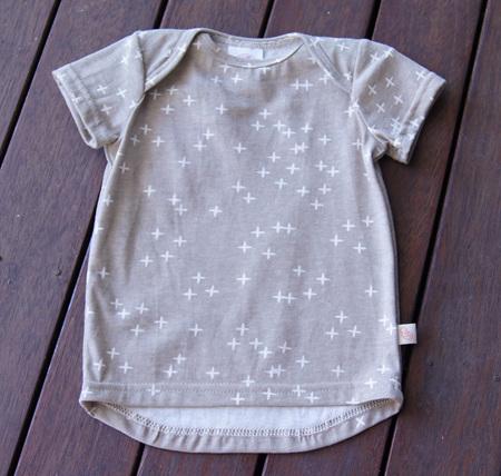 'Taylor' short sleeve Tee, 'Wink Shroom', GOTS Organic Cotton Knit, 1 year