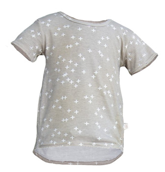 'Taylor' short sleeve Tee, 'Wink Shroom' GOTS Organic Cotton Knit, 3 years