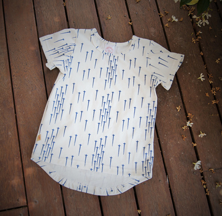 'Taylor' Tee 'Blue Star' 100% Cotton, 2 years