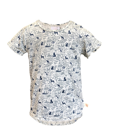 'Taylor' Tee, 'Enchanted Garden' 100% Cotton, 4 years