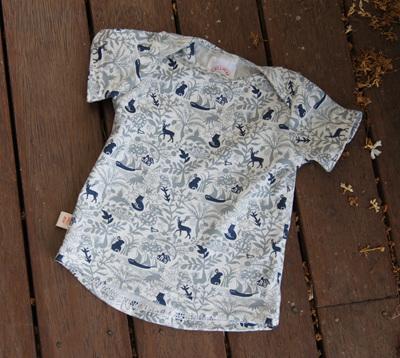 """Taylor"" Tee, 'Enchanted Garden' 100% Cotton Knit, 3-6m"