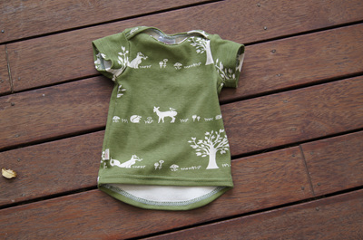 'Taylor' Tee, GOTS Organic Cotton 'Forest Friends', 0-3 months