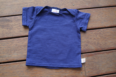 'Taylor' Tee, 'Patriot Blue' 100% cotton knit, 0-3m