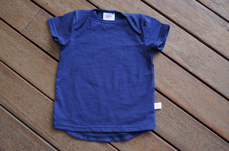'Taylor' Tee, 'Patriot Blue' 100% cotton knit, 1 year