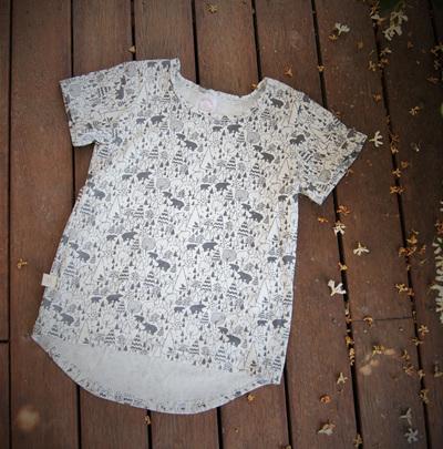 """Taylor"" Tee, 'Scandi Bear' cotton knit, 1 year"